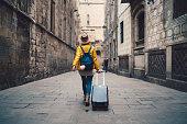 Tourist visiting Spain