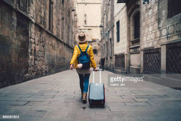 tourist visiting spain - arrival photos stock photos and pictures