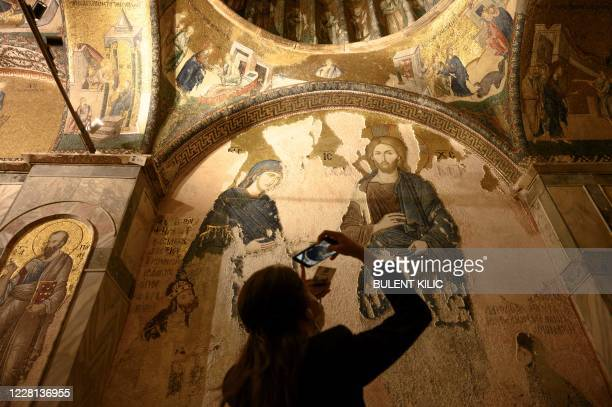 Tourist visits the Chora or Kariye Museum, formally the Church of the Holy Saviour, a medieval Byzantine Greek Orthodox church, on August 21 in the...