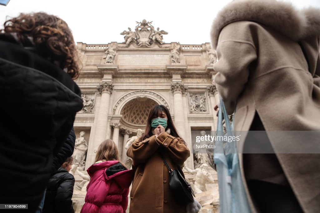 Coronavirus Crisis In Rome : ニュース写真