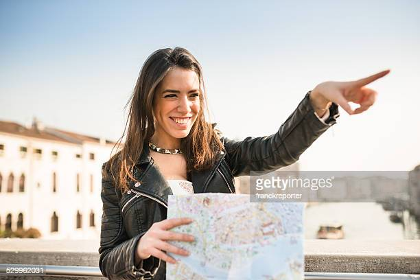 tourist with a map in Venice