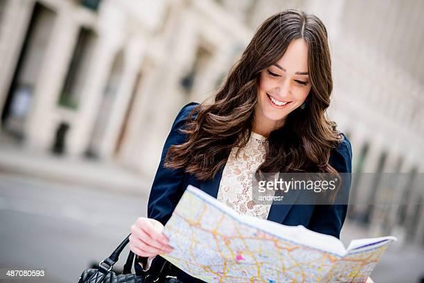 Touristiques avec la carte