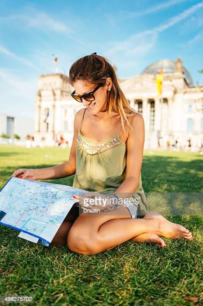 観光、地図と有名なランドマークの観光を Berlin ,Germany