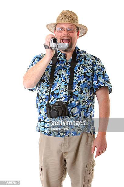 tourist with video camera