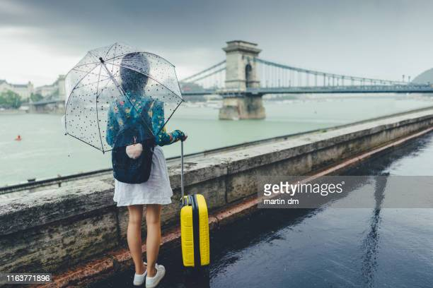 tourist woman exploring budapest - hungary stock pictures, royalty-free photos & images