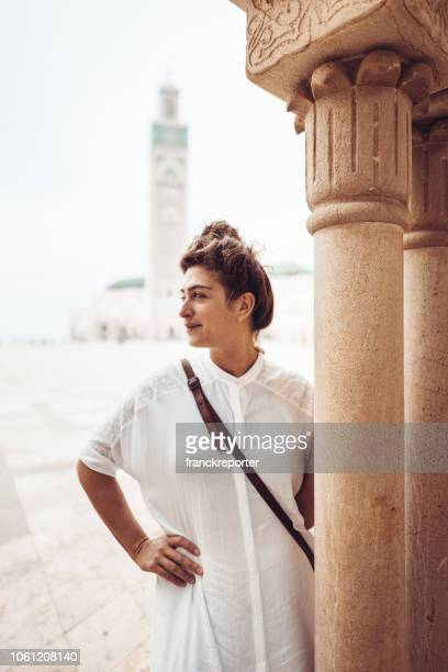 tourist woman in casablanca - morocco - onyx stock pictures, royalty-free photos & images