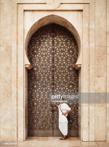 tourist woman in casablanca - morocco - agate stock pictures, royalty-free photos & images