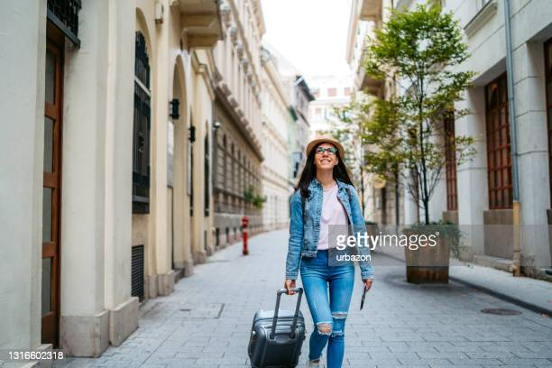 tourist woman visiting budapest - traditionally hungarian stock pictures, royalty-free photos & images