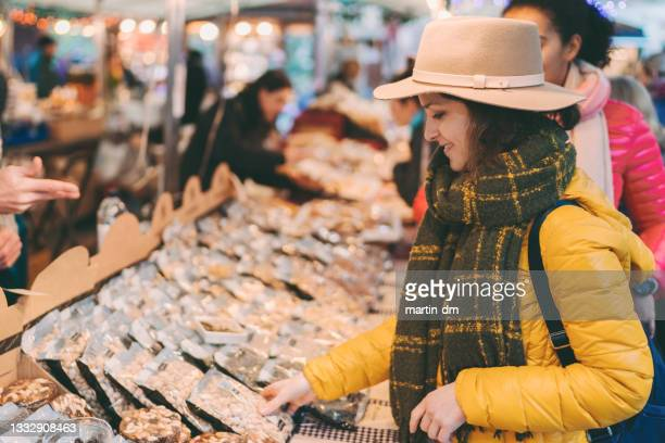 tourist woman visiting spain - neckwear stock pictures, royalty-free photos & images
