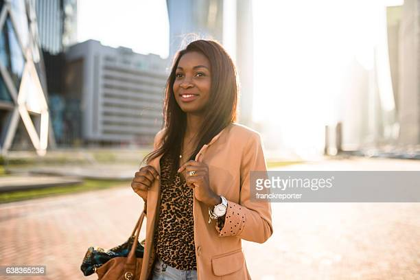tourist woman walking in doha - qatar - doha stock pictures, royalty-free photos & images