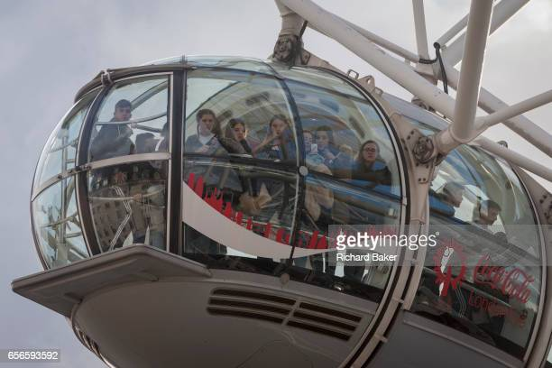 Tourists allowed by police to leave the London Eye hours after four people were killed and 20 injured during a terrorist attack on Westminster Bridge...