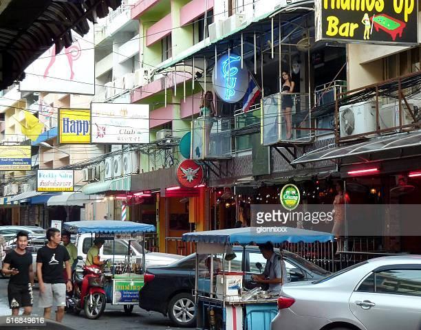 Tourists and Ladyboys on Soi 6, Pattaya Thailand