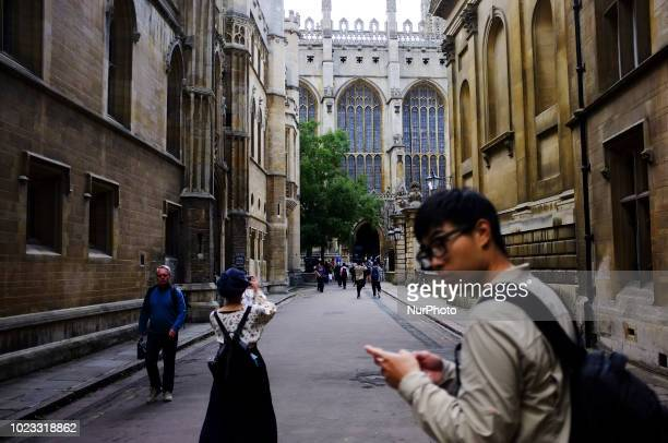 Tourists are pictured in Cambridge on August 25 2018 Cambridge is home to the worldrenowned University of Cambridge which was founded in 1209 The...