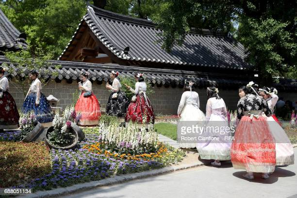 Tourists are seen at Hanok Village on May 25 2017 in Jeonju South Korea The 2017 FIFA U20 World Cup is currently underway in South Korea