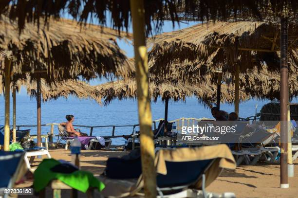 Tourists are seen in the Egyptian Red Sea resort of Sharm elSheikh on August 7 2017 Saudi Arabian billionaire Prince Alwaleed bin Talal is to invest...