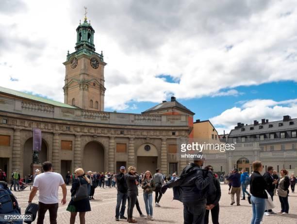 Tourists around the Royal Palace, Stockholm