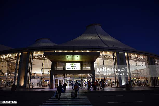 Tourists arrive at the airport's departure hall in Egypt's Red Sea resort of Sharm ElSheikh on November 13 2015 A recording from Russian Airbus A321...