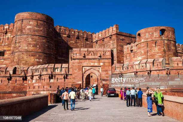 Tourists at Agra Fort in Agra, India