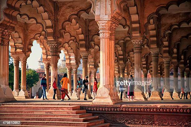 tourists at agra fort. india - agra fort stock pictures, royalty-free photos & images