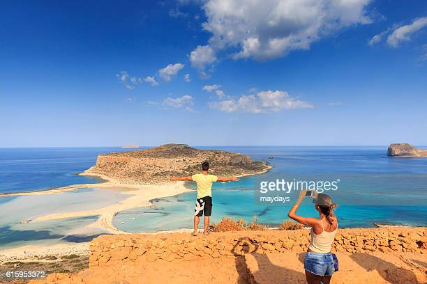 Tourists at Balos beach, Crete