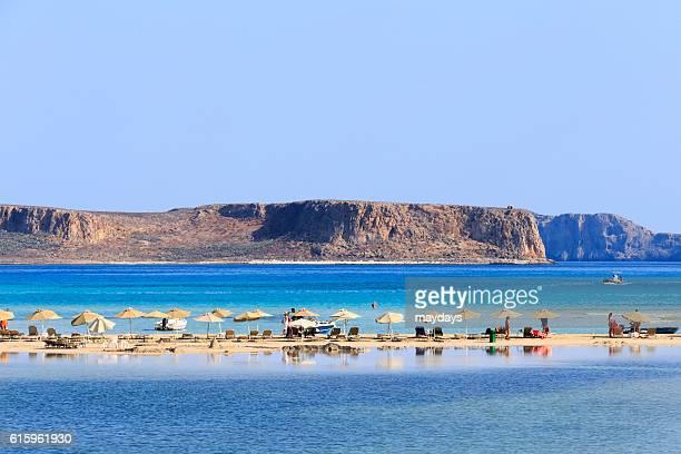 Tourists at Balos beach, Crete