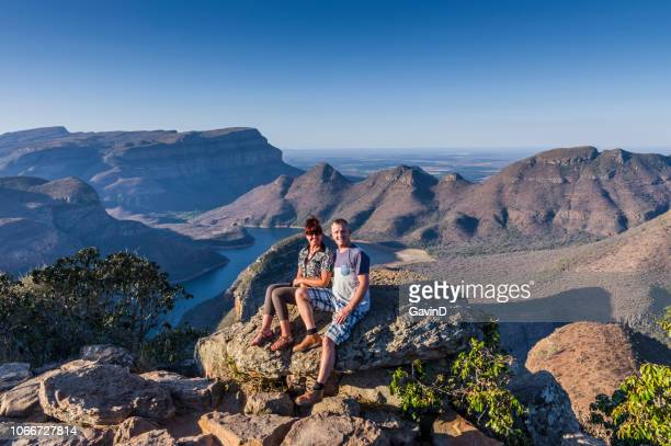 tourists at blyde river canyon mpumalanga south africa - mpumalanga province stock pictures, royalty-free photos & images