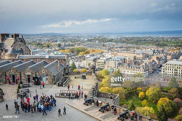 tourists at edinburgh castle - theasis stock pictures, royalty-free photos & images