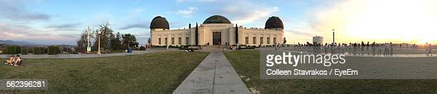 Tourists At Griffith Park Observatory