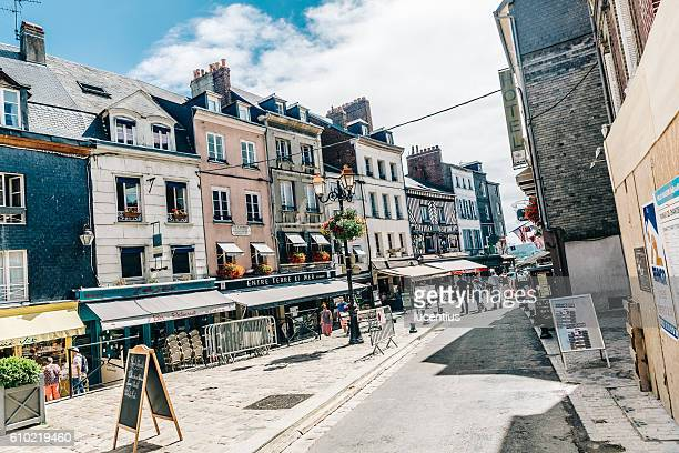 Tourists at Honfleur, Normandy, France