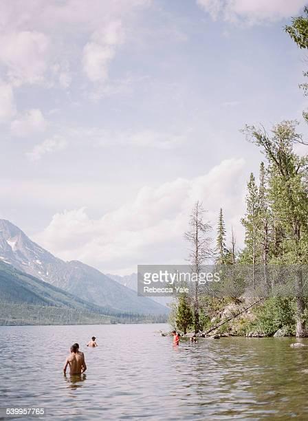 Tourists at Jenny Lake