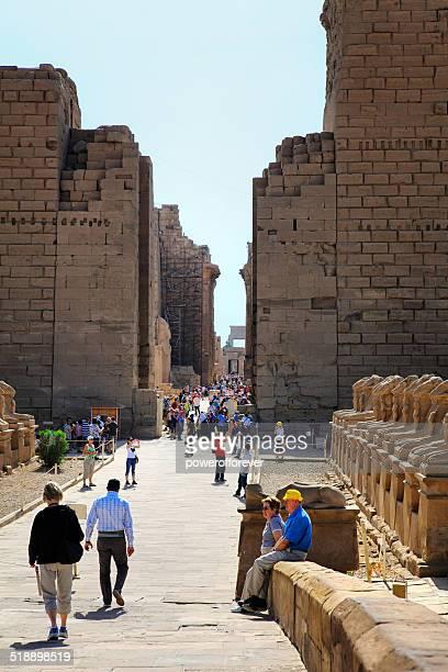 Tourists at Karnak Temple, Egypt