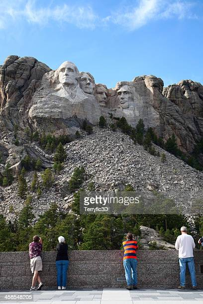 tourists at mount rushmore visitor center - terryfic3d stock pictures, royalty-free photos & images