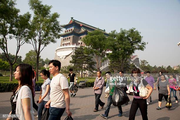 Tourists at Qianmen is a gate in Beijing's historic city wall The gate is situated to the south of Tiananmen Square and once guarded the southern...