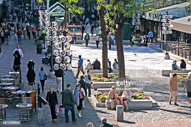 Tourists at Quincy Market Boston Massachusetts