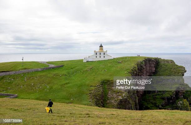 Tourists at Stoer Head Lighthouse, Scotland