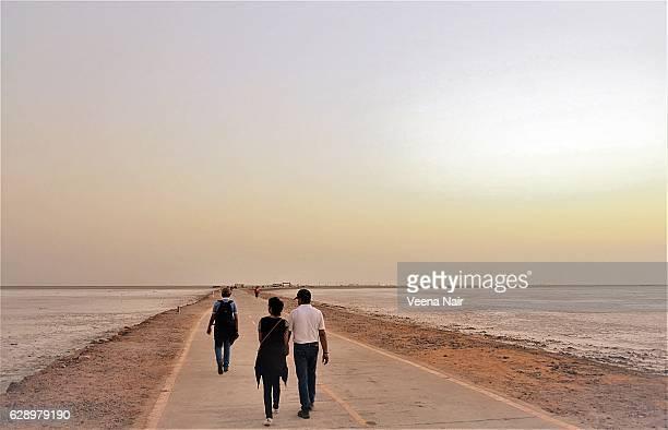 Tourists at the Great Rann of Kutch-Rann Utsav-Gujarat