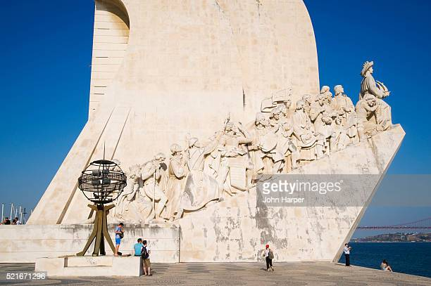 Tourists at the Monument to the Discoveries in Lisbon