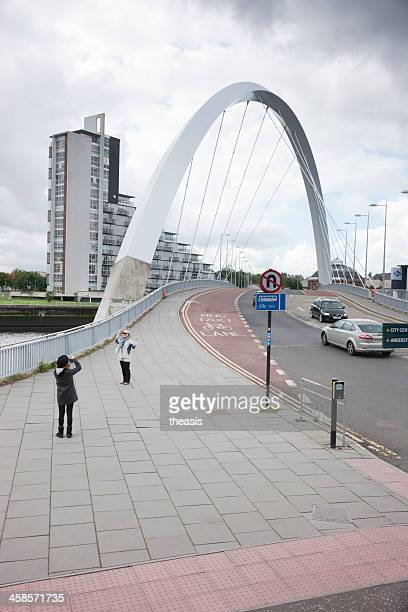 Tourists at the Squinty Bridge, Glasgow