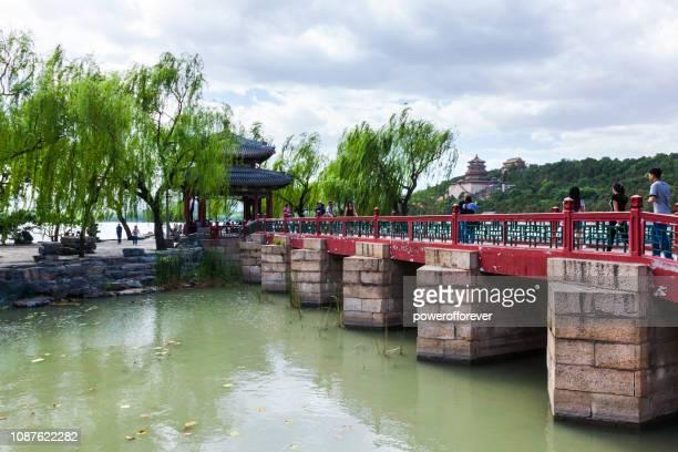 Touristen im Sommerpalast in Peking, China