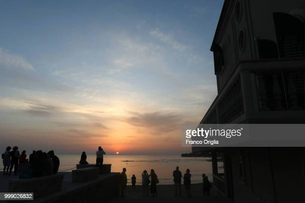A view of Scicli a place where the Tv series based on Inspector Montalbano was filmed on June 05 2018 in Scicli Ragusa Italy Inspector Salvo...