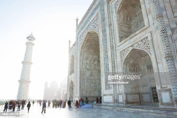 Tourists at the Taj Mahal in Agra, India - British Era