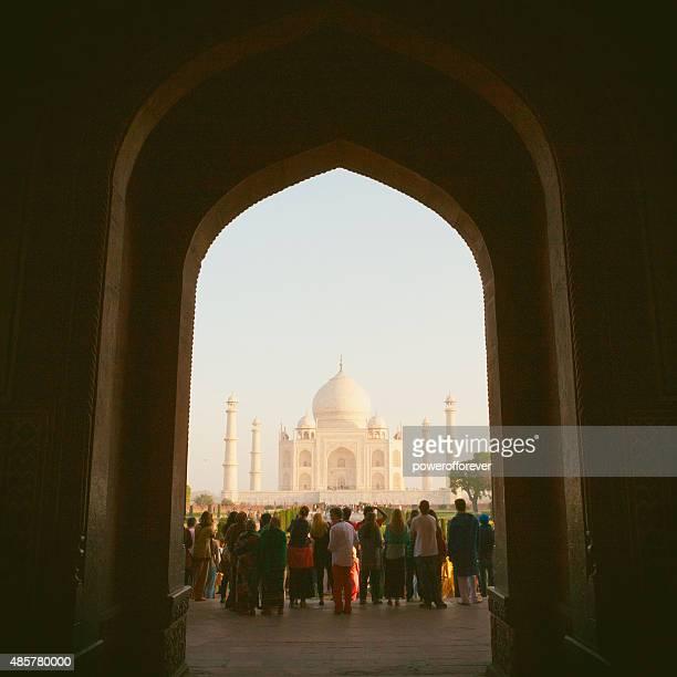 Tourists at The Taj Mahal