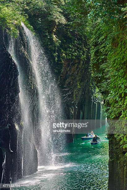 Tourists at the Takachiho Gorge