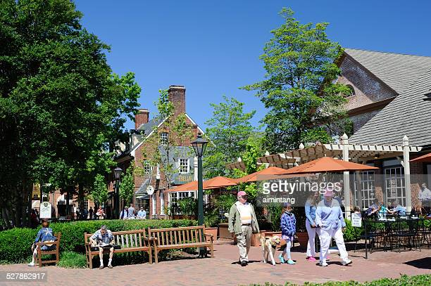 tourists at williamsbug of virginia - williamsburg virginia stock pictures, royalty-free photos & images