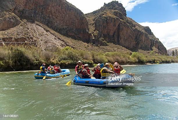 Tourists Boating On Urubamba River Peru