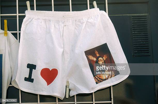 Tourists can buy I love Jesus underwear in Seville Spain