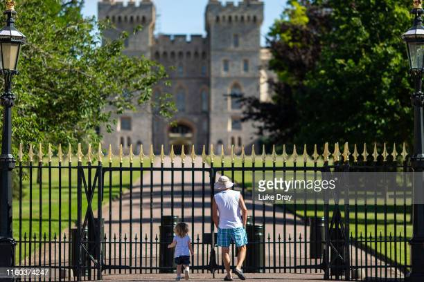 Tourists enjoy a quiet Long Walk on the morning of the day that Archie Harrison MountbattenWindsor son of The Duke Duchess of Sussex was christened...