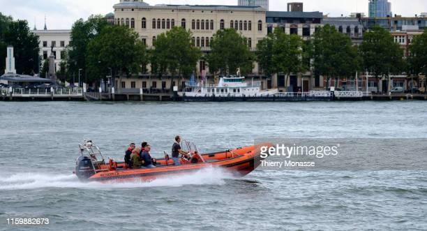 Tourists enjoy a sightseeing Tour on the Meuse river with the RIBexperience The RIBexperience is a thriller spectaculair fun smiling adventure...