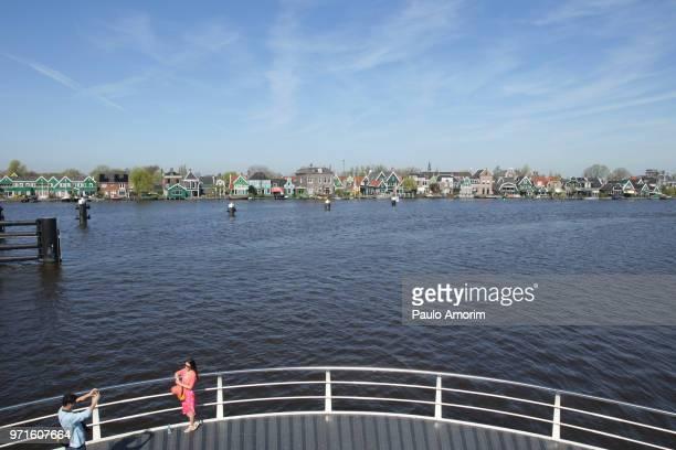 Tourists Enjoying at Zaans Schans in Netherlands