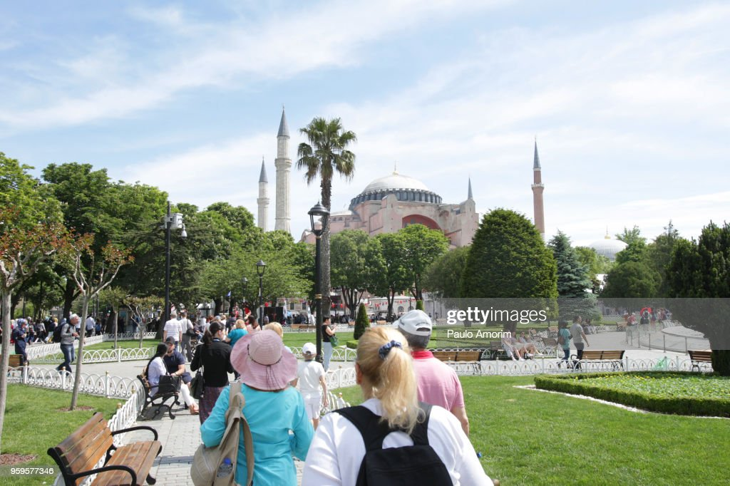 Tourists Enjoying in Istanbul,Turkey : Stock-Foto